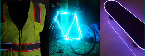 EL (Electroluminescent) wire being used for Illumination, Electroluminescent Coating and for Safety and Awareness